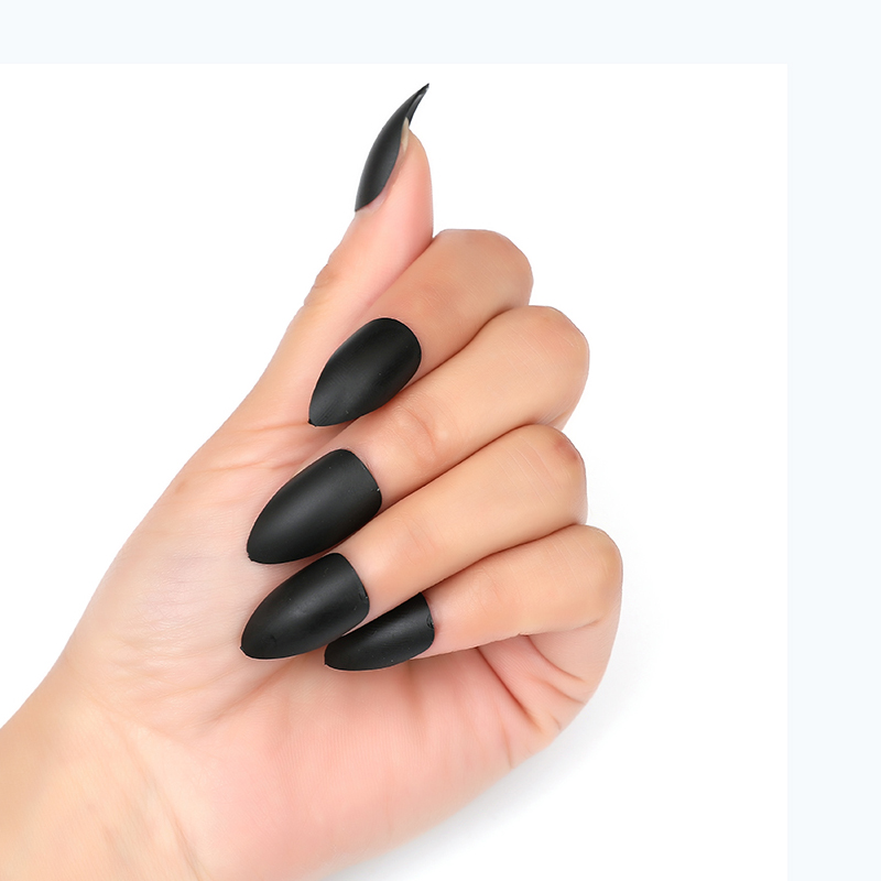Detail Feedback Questions About 100pc 24pc Matte Fake Nails Black