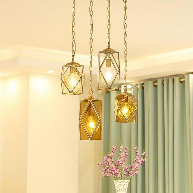 Kupfer Lampenschirm Pendelleuchte Lampen Buntglas leuchten Für ...