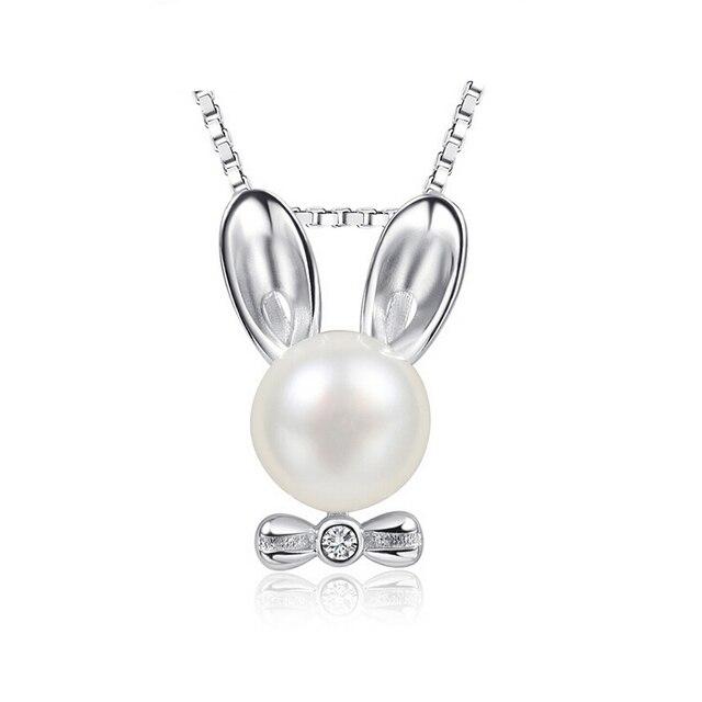 Perlas de agua dulce 100% Perlas Naturales Reales de Plata 925 Colgante yh4808