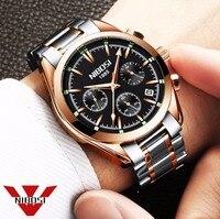 NIBOSI Relogio Masculino Saat Men Watches Top Brand Luxury Fashion Business Quartz Watch Men Sport Metal Waterproof Wristwatches