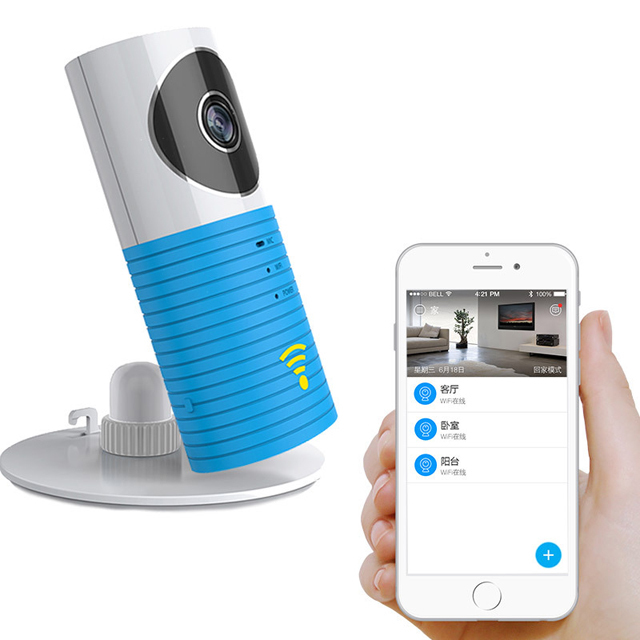 Free Shipping!Clever Dog Wifi Home Security IP Camera Baby Monitor Intercom Smart Phone Audio Night Vision cam de seguridad P4PM