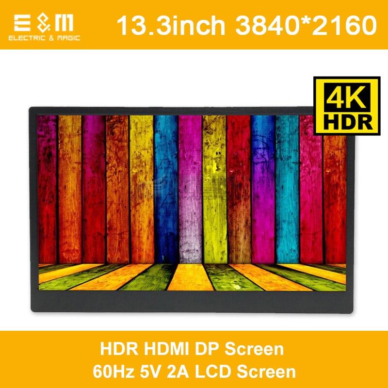 13.3 pouce 3840*2160 HDR IPS 4 k Portable Moniteur Jeu Tactile Écran Mac Mini Ps4 Pro Xbox Un DEX HDMI DP HDCP LCD Affichage