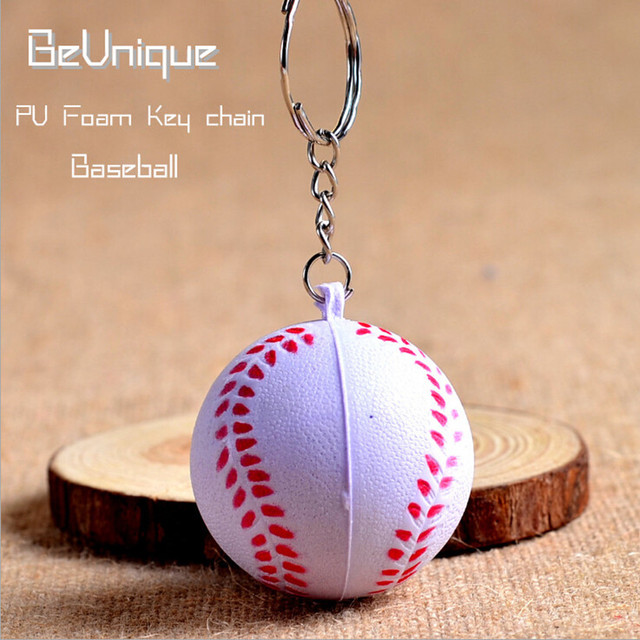 aea5783c7e996 Anti Bola Apertar O Estresse chaveiro Mini PU Brinquedo bola de beisebol  4.5 cm artigos esportivos