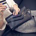 2016 New Fashion Style Women Envelope HandBags 4 Color Available High Quality PU Leather Striped Women's Handbag Messenger Bags