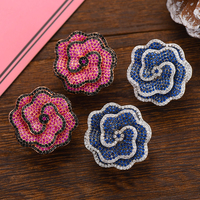 Siscathy 26*26mm Luxury Rose Flower Stud Earrings for Women Wedding Jewelry Cubic Zircon CZ Dubai Bridal Bohemian Earring 2019