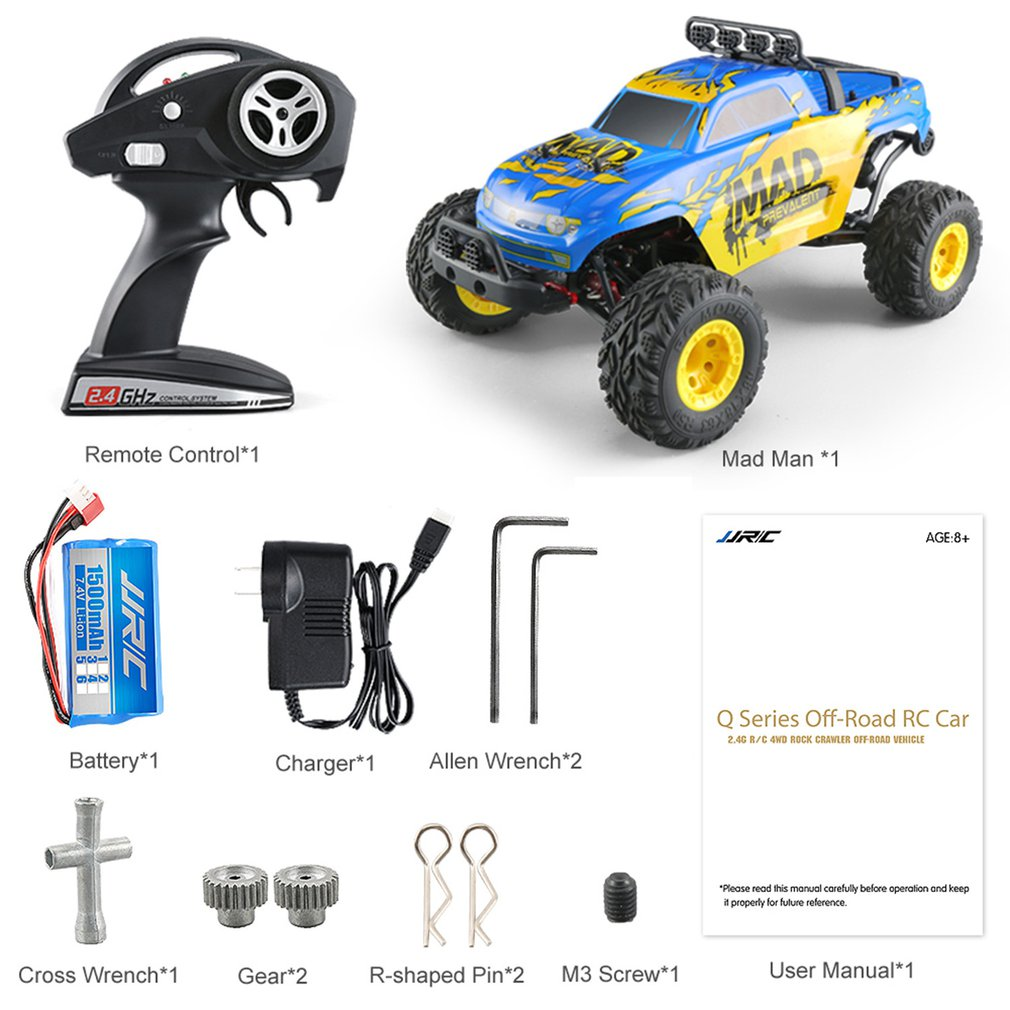 JJR/C Q40 1/12 4WD Short-course 40km/h High Speed RC Car Off-road Vehicle Buggy RTR Remote Control Car Toys for Kids GiftsJJR/C Q40 1/12 4WD Short-course 40km/h High Speed RC Car Off-road Vehicle Buggy RTR Remote Control Car Toys for Kids Gifts
