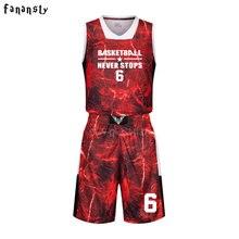 Uniformes de basquete personalizada de alta qualidade basketball jerseys  Meninos respirável ternos de basquete universitário barato 8bc45e567