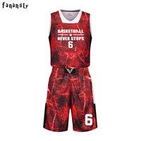 High Quality Basketball Jerseys Boys Breathable Custom Basketball Uniforms Cheap College Basketball Suits DIY Set 2017