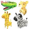 Brinquedo educativo 1 pc CubicFun canguru crocodilo girafa zebra animal kits modelo de papel DIY 3D jigsaw puzzle brinquedo presente das crianças