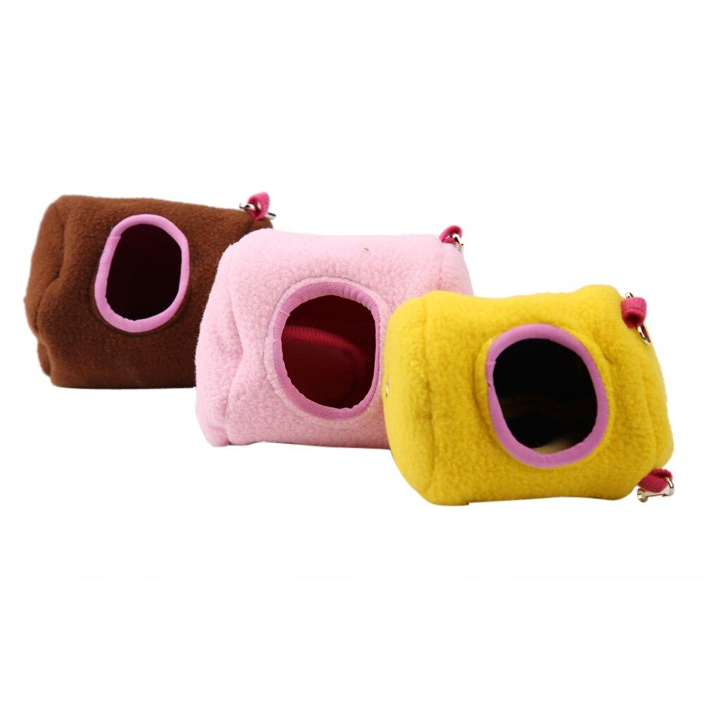 Hanging bed nest - Pet Hammock Rat Hamster House Plush Cotton Hammock Hanging Tree Bed Nest Cages For Rat Hamster