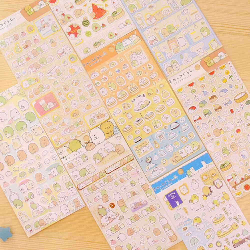 1 Vel Nieuwe Leuke Hoek Creature Stickers Cartoon Planner Stickers Label Decoratie Scrapbooking Eenvoudig Kleverige Korea Briefpapier
