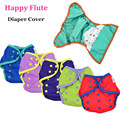 12pcs/ Lot Happy Flute Diaper Cover One Size Cloth Diaper, Waterproof PUL Breathable Reusable Diaper Covers for Baby, Fit 3-15kg