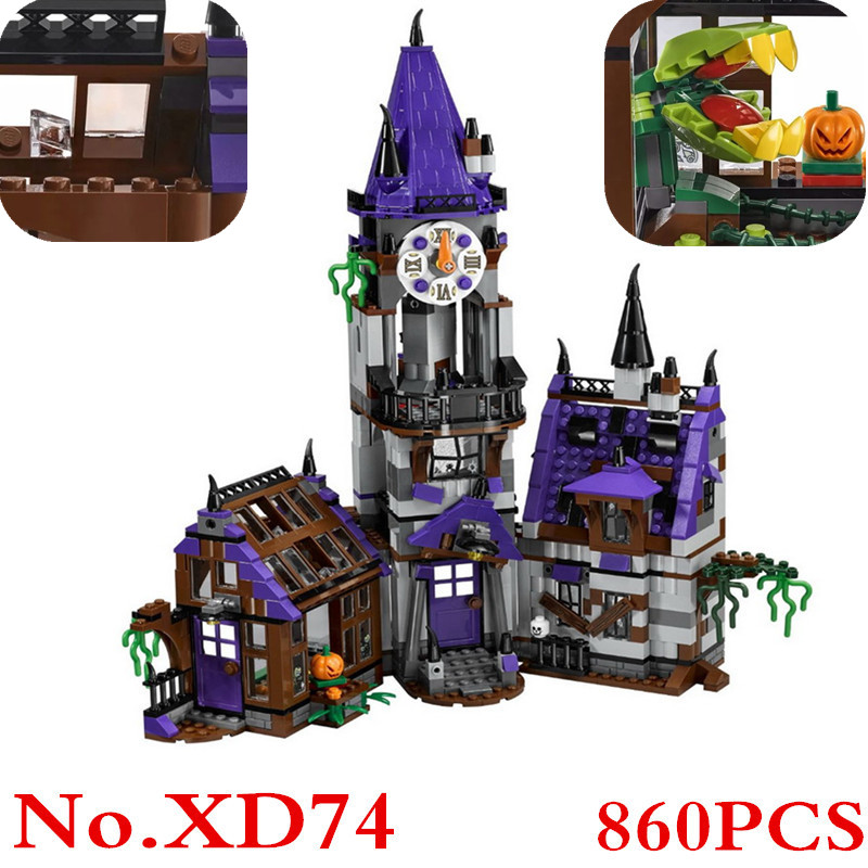 Scooby Doo Mysterious Ghost House 860pcs Building Block Figure Toys Compatible With Lepin 75904 Blocks For Children Gift XD74 lepin 22001 pirate ship imperial warships model building block briks toys gift 1717pcs compatible legoed 10210