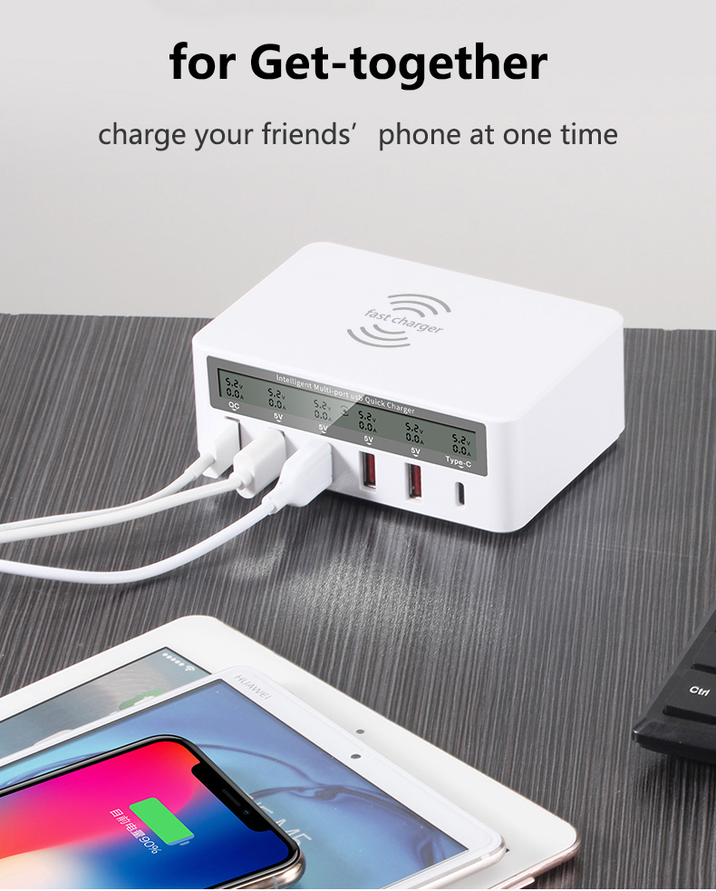 QI Wireless Fast Charger Quick Charge 3.0 USB Type C Charger (13)