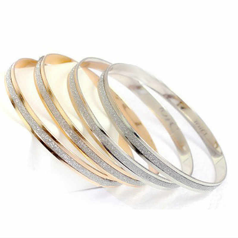 Hot Sale Trendy Crystal Bracelets for Women Silver Gold Wrap Bracelets Stainless Steel Bangles Jewelry