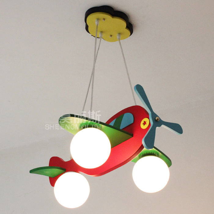 new colorful kids bedroom airplane model lamp pendant lamp childrens study room pendant lights free shipping childrens pendant lighting