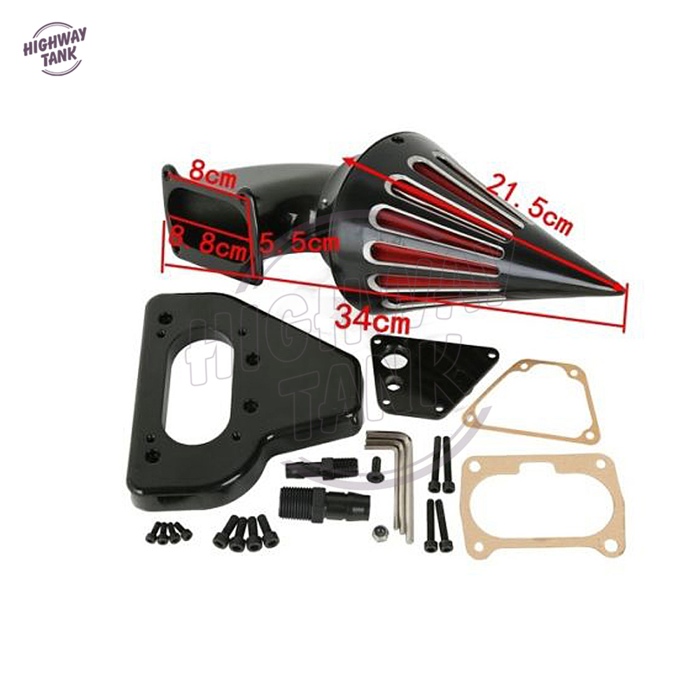 Able Aftermarket Motorcycle Accessories Spike Air Cleaner Intake Filter For 2010 Harley Dyna Touring Models Black Elegant Appearance Air Filters & Systems