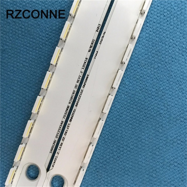 2 Pcs LED Lampu Latar Strip 56/60 LED untuk Samsung 2012SVS46 7032NNB LEFT60/RIGHT60 2D LTJ460HN06 UA46ES5500R UE46ES5507K