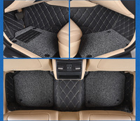 Myfmat custom foot leather car floor mats for PEUGEOT 206 207 301 307 408 308 308S 508 407 607 free shipping well fit flexible