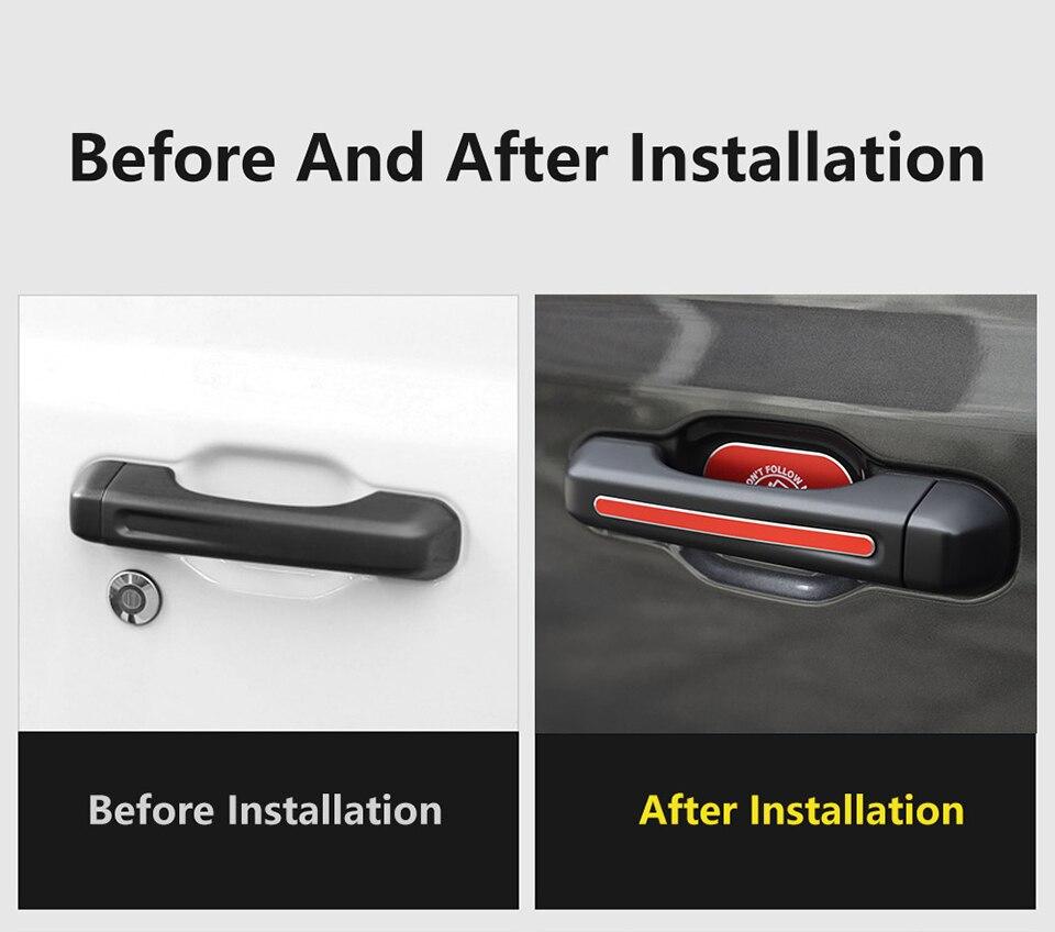 XBEEK 5PCS Aluminum Alloy Car Door Tail Door Outer Door Bowl Sticker For Jeep Wrangler JL Accessories 2018+ 4 Door