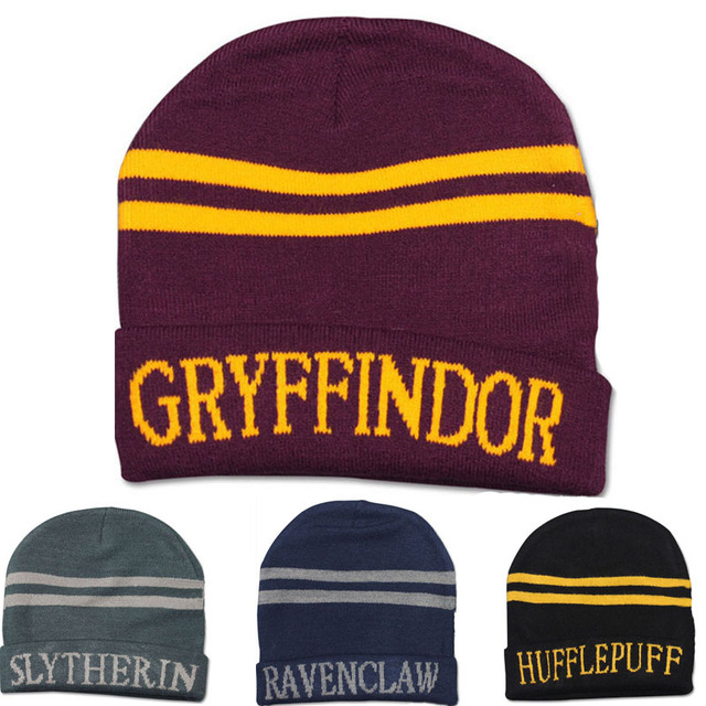 65a2a9e80e0 Harry Potter 4 college hats Gryffindor cap Slytherin beanies Ravenclaw  skullies winter hat