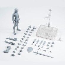 14センチメートル可動女性の男性の体アクションフィギュア玩具アニメフィギュア人形描画マネキンbjdアーティストアートボディーモデル人形