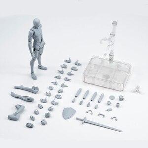 Image 1 - 14cm מטלטלין נקבה זכר גוף פעולה איור צעצועי אנימה איור בובת בובת ציור bjd אמן אמנות ציור גוף דגם בובות