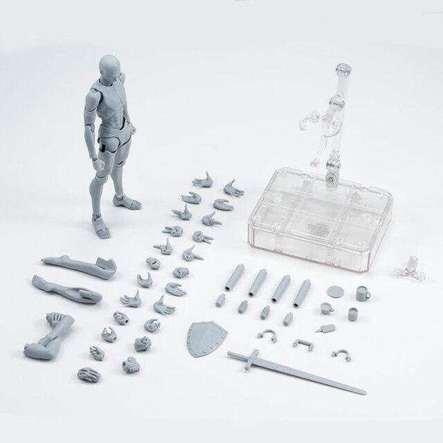 14cm מטלטלין נקבה זכר גוף פעולה איור צעצועי אנימה איור בובת בובת ציור bjd אמן אמנות ציור גוף דגם בובות