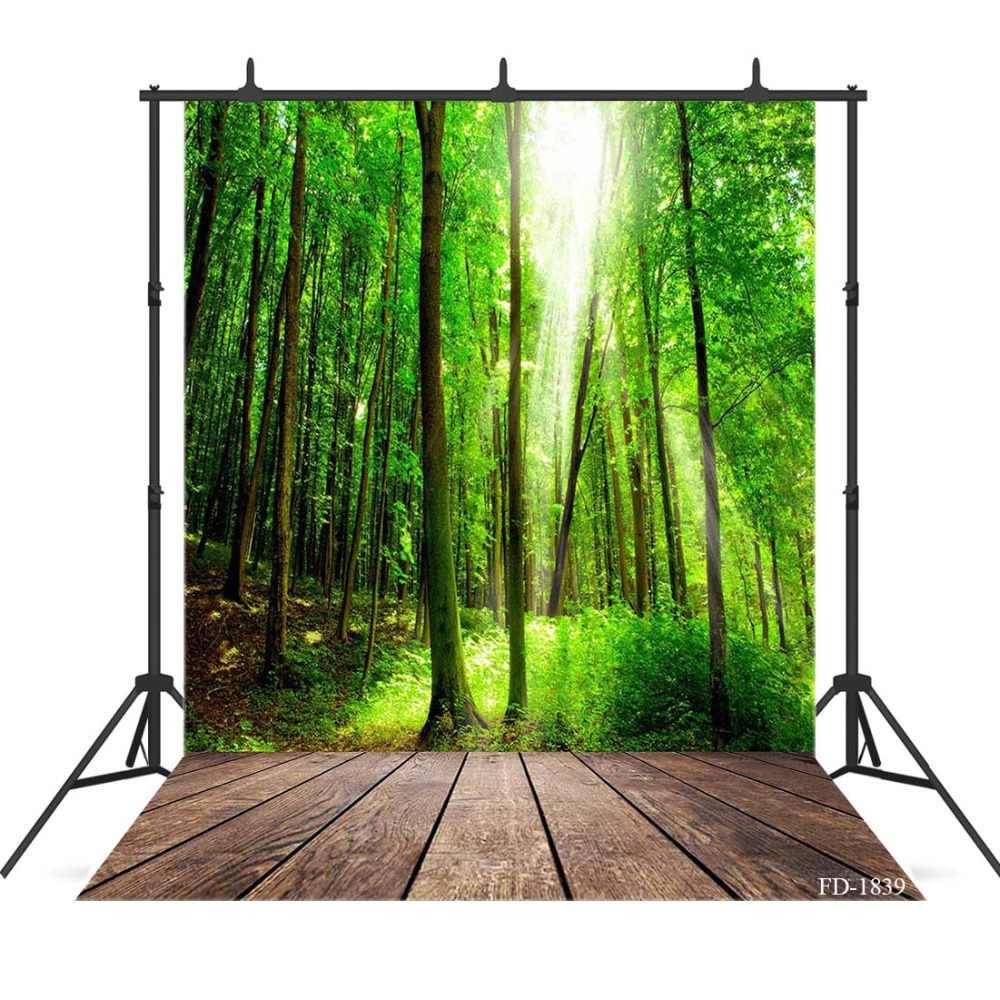 Printemps bois plancher en bois photographie fond pour photographie accessoires enfant bébé tissu Photo décors Photo Shoot