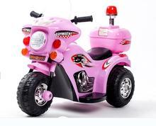 Livraison gratuite Le nouveaux enfants voiture électrique moto tricycle bébé poussette jouet de voiture de police