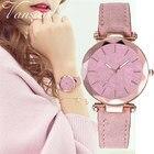 Vansvar 2019 Women's Casual Luxury Quartz Leather Band Starry Sky Watch Analog Wrist Watch Relogio Feminino Gift Clock Q