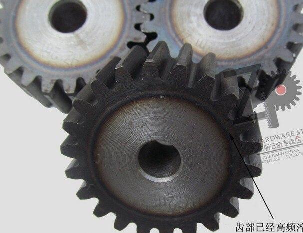 1.5mod gear pinion 30-40 teeth blank hole spur gear precision machinery industry 45 steel gear pinion frequency hardening
