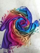New Fashion Rainbow Women Long Soft Scarf