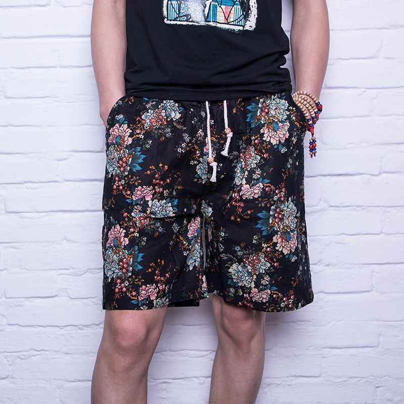 793d590b59 2018 Summer Casual Shorts Men Trousers Male Camouflage Fashion Flowers  Print Straight Short Beach Mens Clothing