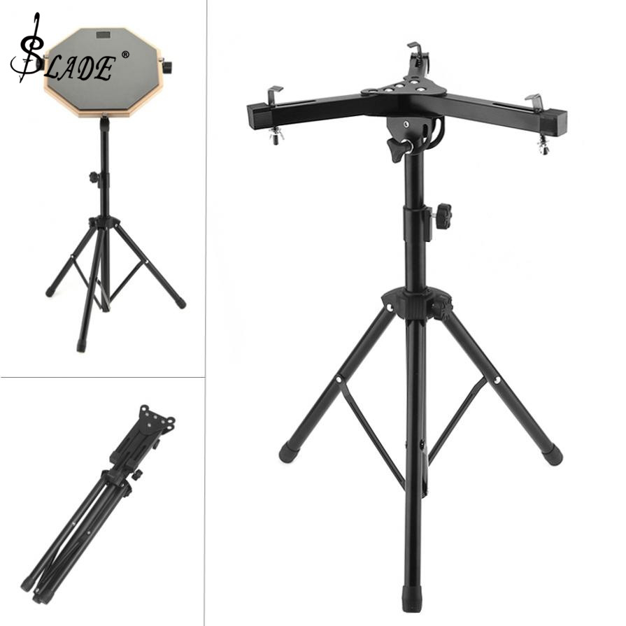 Aluminum Alloy Adjustment Foldable Three-legged Floor Drum Stand Holder Pads Cymbal Stand For 10-12 Inch Dumb Drum