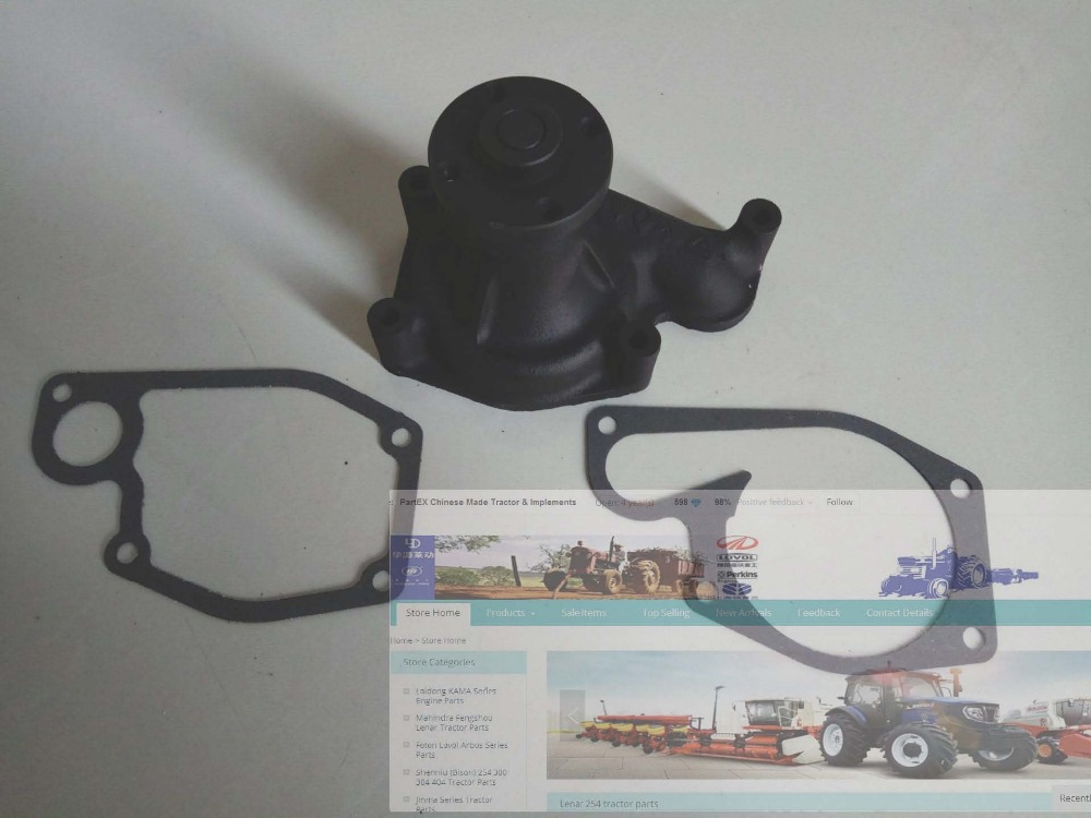 Zhejiang Xinchai A495BT engine parts, the water pump with gasket kit for tractor like Foton, Jinma jiangdong ty395e jd495 engine for tractor like jinma the water pump for by pass hoses and extra vent for warm