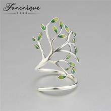 Новейший ручной работы изделия стерлингового серебра 925 дерево в форме укутать кольцо Модные Дизайн женщин серебряные ювелирные изделия Высокое качество