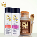 PURC Dark brown organic herbal hair color powder and keratin hair treatment best hair care sets make hair relaxers 2016 hot sele