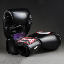 Kick Boxing Gloves PU Leather Mitts Sanda Sandbag Training Black Boxing Gloves Men Women Guante Punching Bag