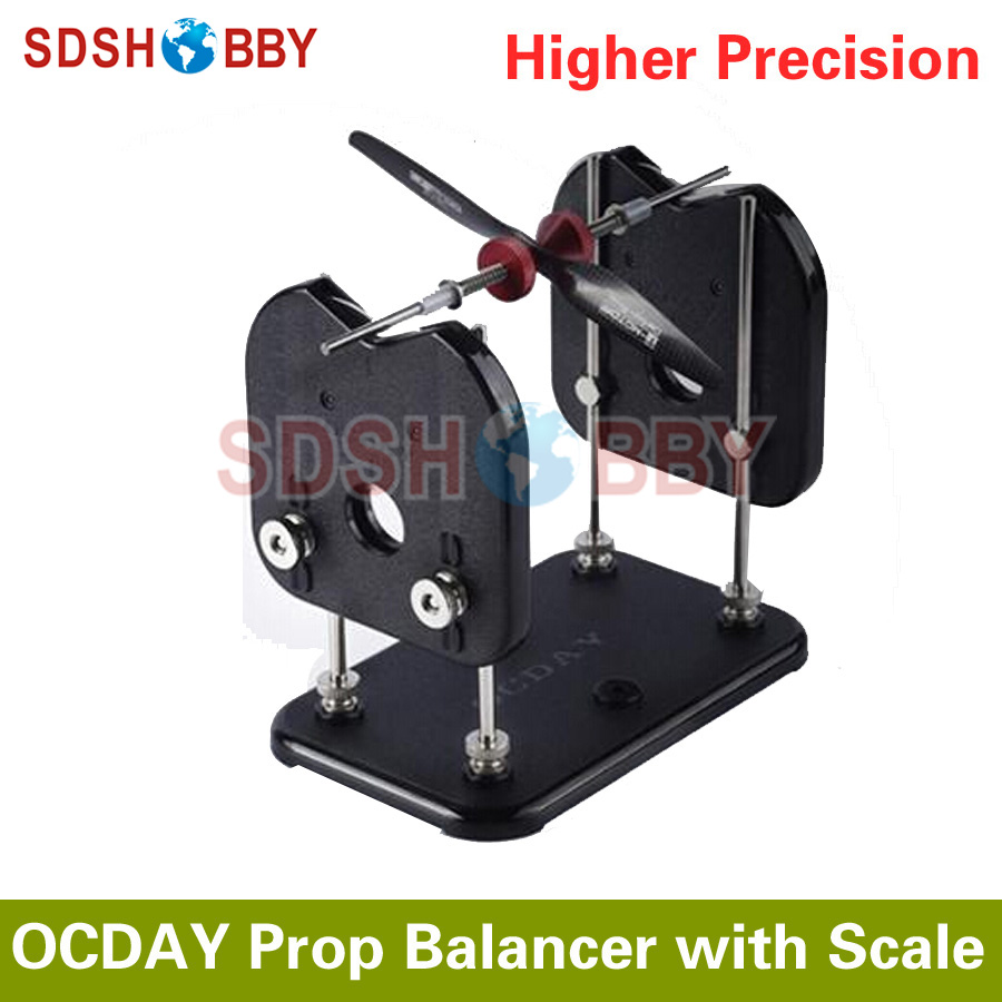OCDAY TRU-Spin Prop Balancer Propeller Balancer with Scale for Airplanes/ Multicopters/ Helicopters/ Boats/ Cars balancer