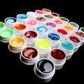 Hermosa 30 unids Glitter Color de la mezcla UV Gel de construcción acrílico Set para el arte del clavo consejos