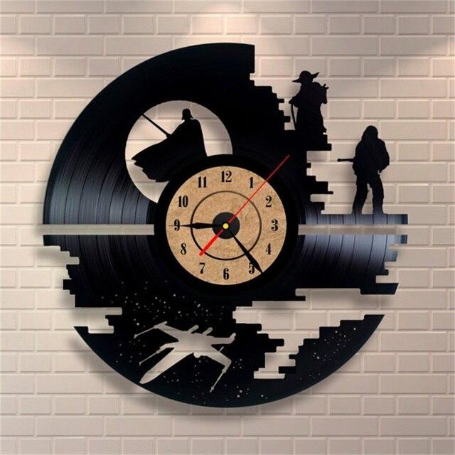 2018 Neue Ankunft CD Schallplatte Wanduhr Vintage Retro Große Dekorative  Wanduhren Antiken Kunst Uhr Quarz Mechanismus