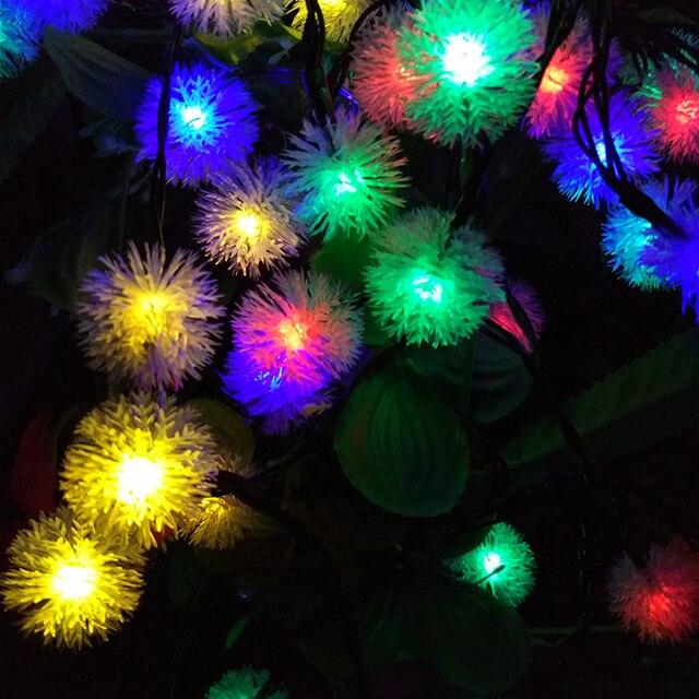 Solar Garden Snowball Decoration LED String Lights Holiday Events ...