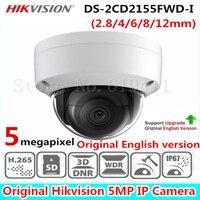 2017 HiK 5MP Original English Version Network Dome Camera DS 2CD2155FWD I Fixed Lens IP Camera