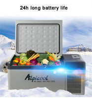 Mini Car Refrigerator 15L 40W LED Display Multi functional Compressor Fridges Portable Cooler Freezer with APP Control