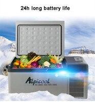 Mini Car Refrigerator 15L 40W LED Display Multi functional Compressor Fridges Portable Cooler Freezer with APP Control