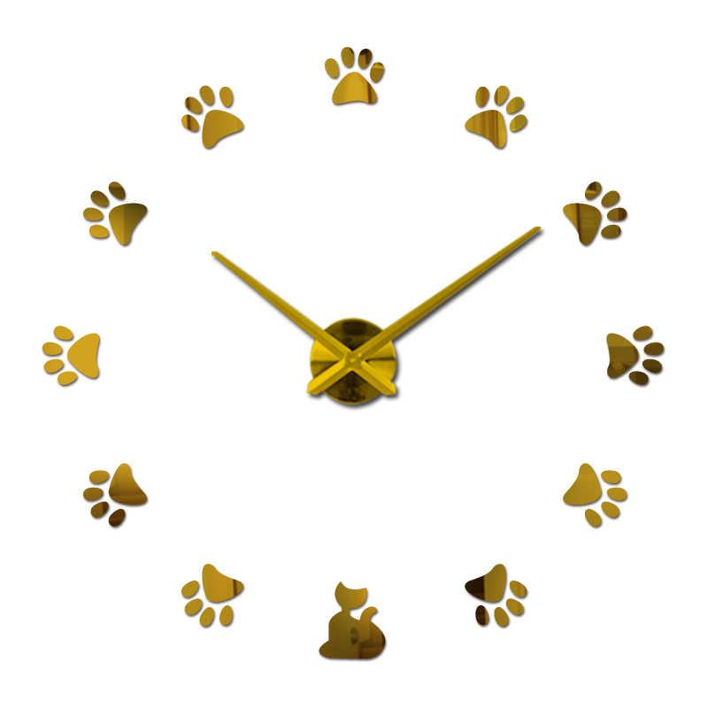 2018 new 3d wall clock diy clocks reloj de pared Quartz watch Living Room Simple Love Circular Acrylic mirror stickers horloge