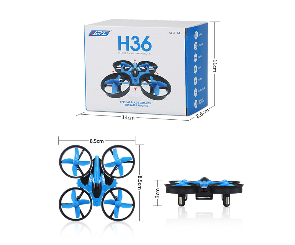 Good children's toy JJRC H36 6-axis Gyro Headless Mode Mini RC Quadcopter Drone RTF 2.4GHz image
