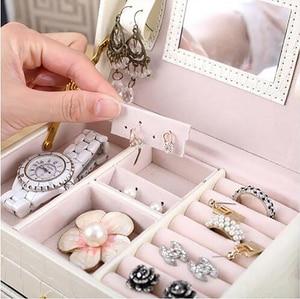 Image 4 - Büyük takı ambalaj ve ekran kutusu PU deri çok katmanlı takı kolye kutusu kozmetik kutusu mücevher kutusu lüks organizatör