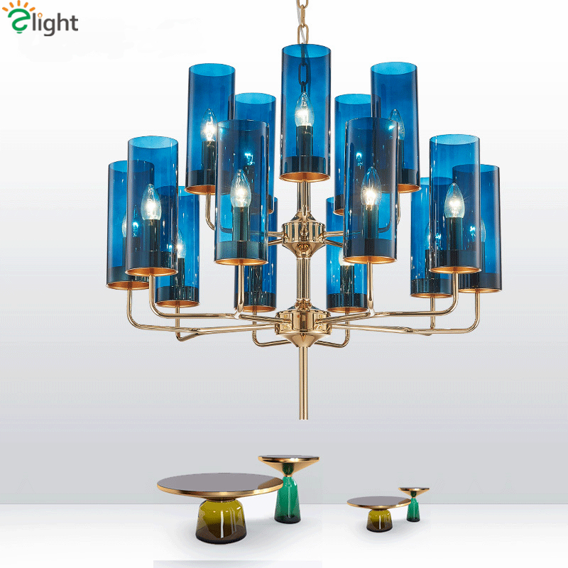 Art Deco Glass Shades Led Chandelier Plate Gold Lustre E14 Chandelier Lighting Foyer Luxury Pendant Chandelier Luminaria Lampara